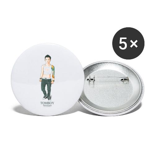 Tomboy. Stereotypes Collection. - Paquete de 5 chapas pequeñas (25 mm)