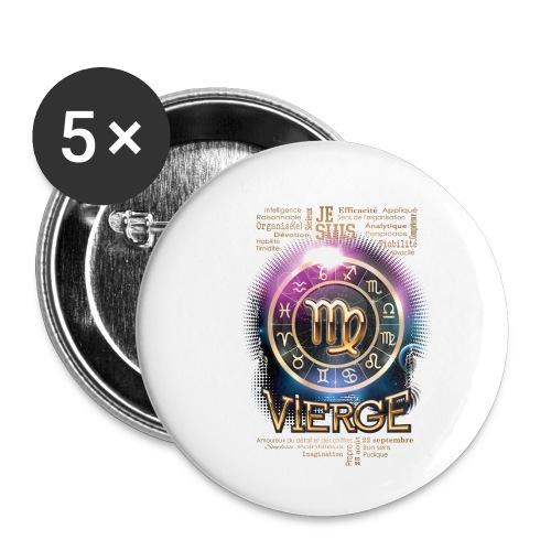 VIERGE - Lot de 5 petits badges (25 mm)