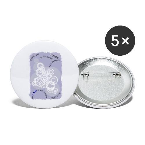 I Am Much More - Confezione da 5 spille piccole (25 mm)