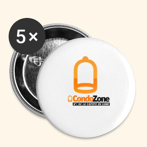 condozone - Lot de 5 petits badges (25 mm)