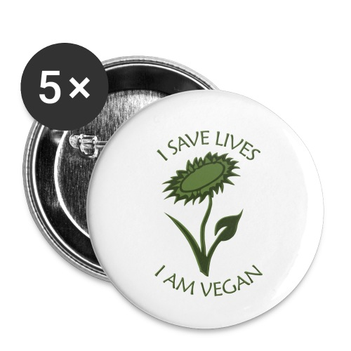 Turnbeutel vegan - Buttons klein 25 mm (5er Pack)