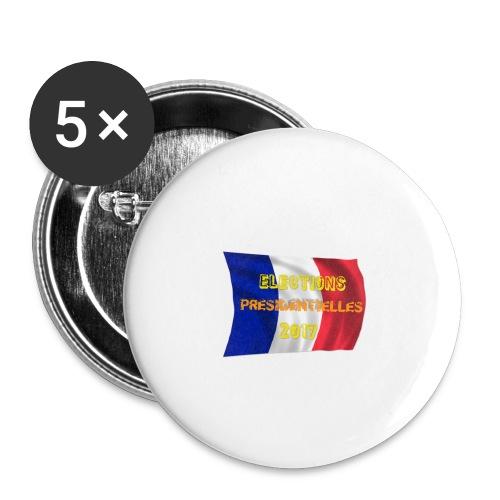 ELECTIONS 2017 - Lot de 5 petits badges (25 mm)