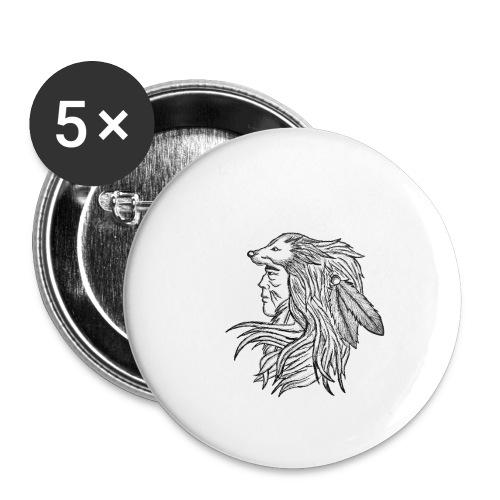 Native American - Confezione da 5 spille piccole (25 mm)