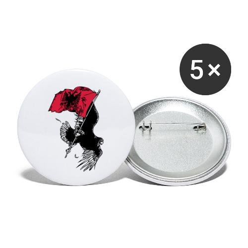 Albanischer Adler - Buttons klein 25 mm (5er Pack)