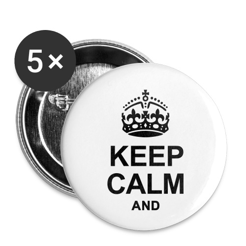 KEEP CALM - Buttons small 1''/25 mm (5-pack)
