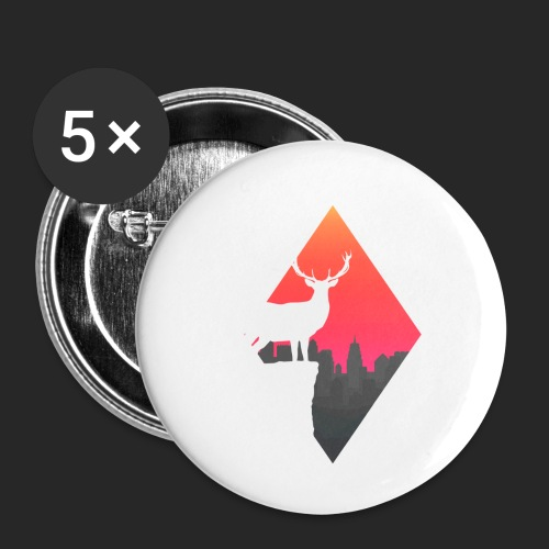 Sunset Deer - Buttons small 1''/25 mm (5-pack)