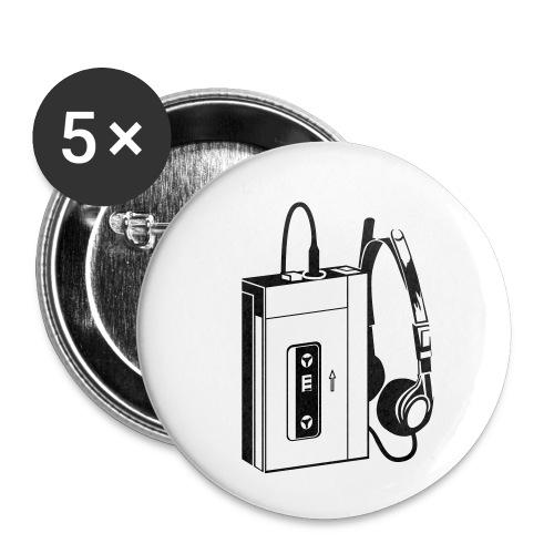WALKMAN - Lot de 5 petits badges (25 mm)