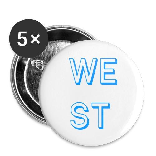 WEST LOGO - Confezione da 5 spille piccole (25 mm)
