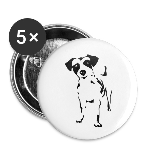 Jack Russell Terrier - Buttons klein 25 mm (5er Pack)