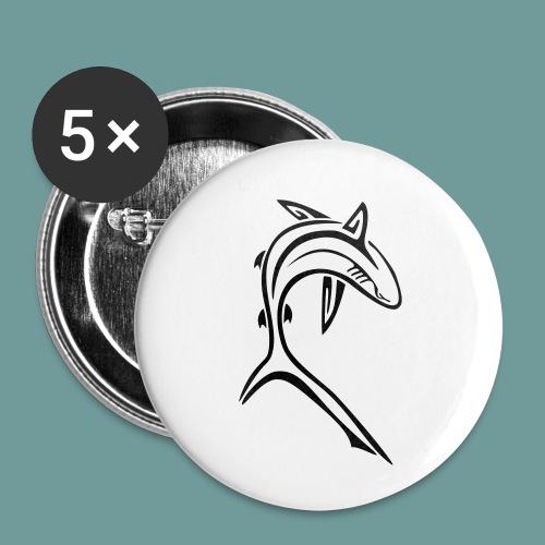 shark_light - Lot de 5 petits badges (25 mm)