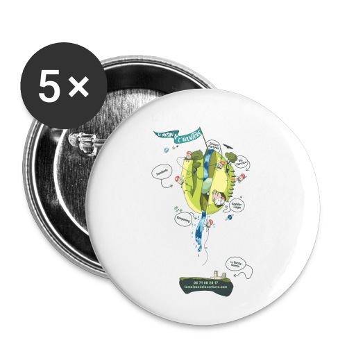 T-shirt Maison de L'aventure - Lot de 5 petits badges (25 mm)