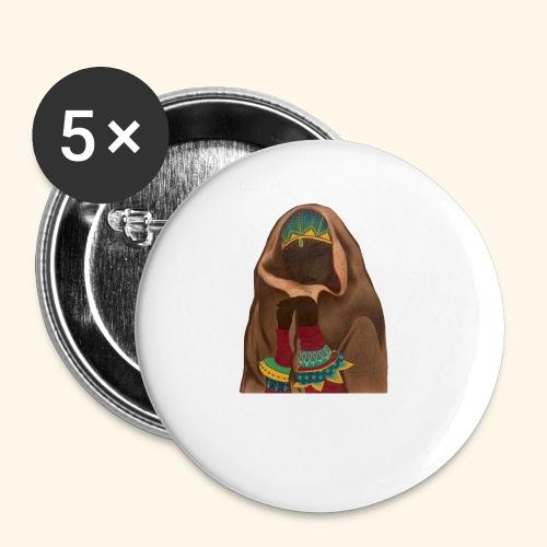 Femme bijou voile - Lot de 5 petits badges (25 mm)