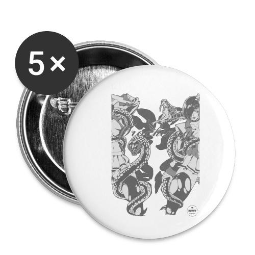 Bliss Yagami Grey - Lot de 5 petits badges (25 mm)