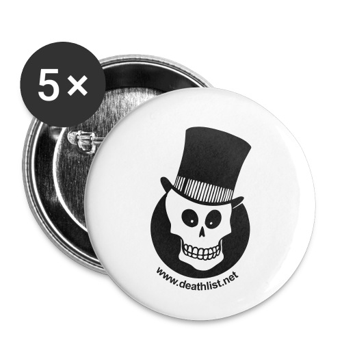 skully vector - Buttons small 1''/25 mm (5-pack)