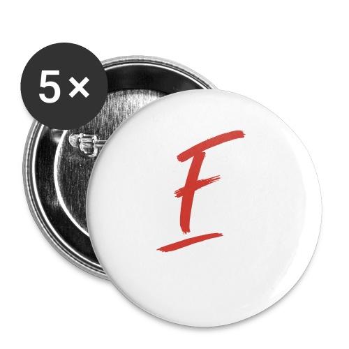Radio Fugue F Rouge - Badge petit 25 mm