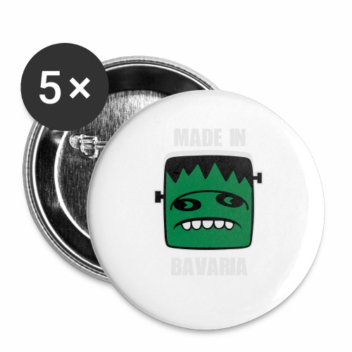 Fonster weiß made in Bavaria - Buttons klein 25 mm (5er Pack)
