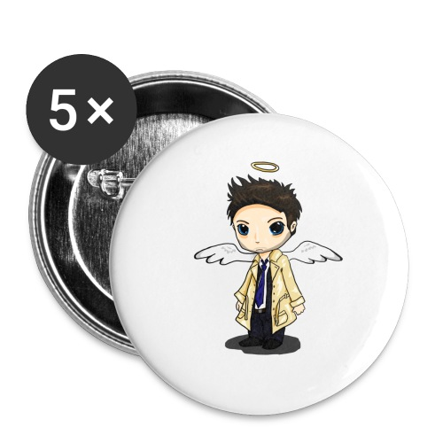 Team Castiel (dark) - Buttons small 1''/25 mm (5-pack)