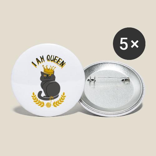 I am Queen - Lot de 5 petits badges (25 mm)