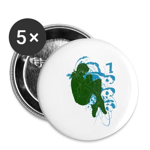 armygirl3 - Lot de 5 petits badges (25 mm)