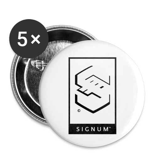 signumGamerLabelBW - Buttons small 1''/25 mm (5-pack)