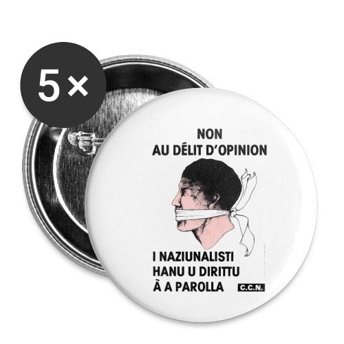 délit opinion - Lot de 5 petits badges (25 mm)