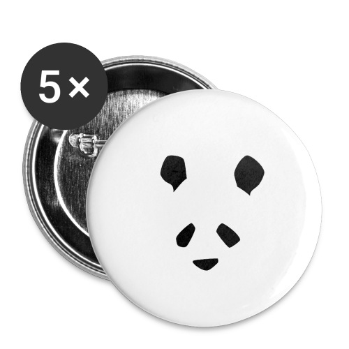 Simple Panda - Buttons small 1''/25 mm (5-pack)
