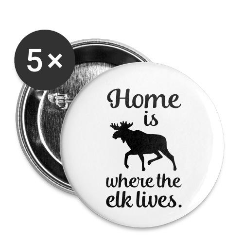 Elch Skandinavien Fan Spruch - Buttons klein 25 mm (5er Pack)