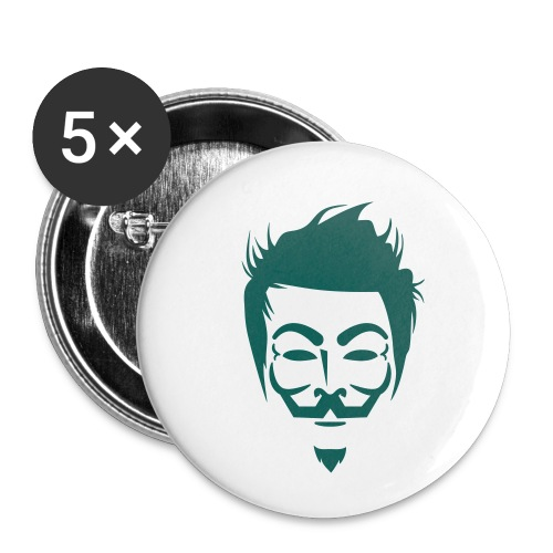 Anonymous Hipster - Lot de 5 petits badges (25 mm)
