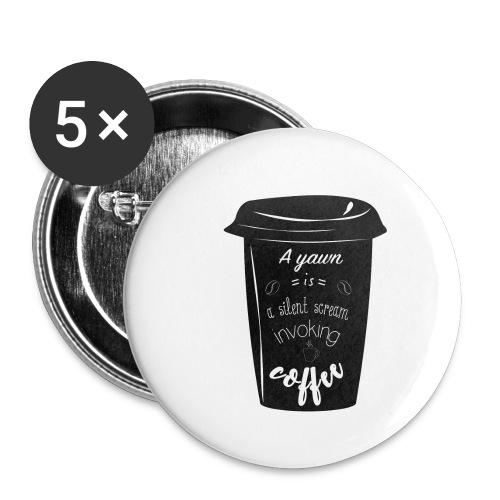 Coffee - Confezione da 5 spille piccole (25 mm)