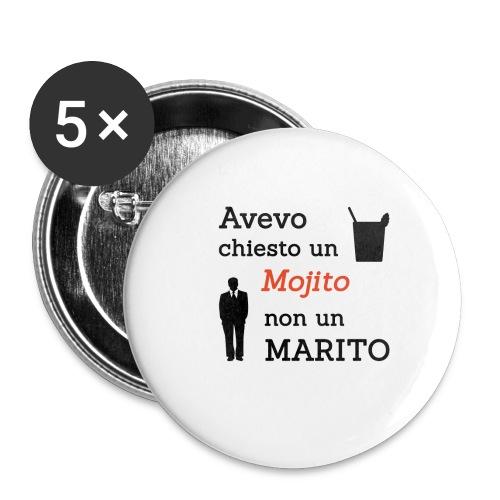 Addio al nubilato - Mojito, non marito! - Confezione da 5 spille piccole (25 mm)