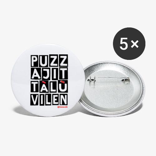 Puzza Jittà Lu Vilen - Confezione da 5 spille piccole (25 mm)