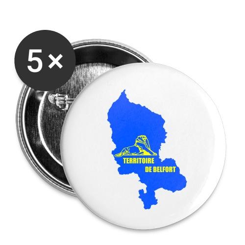 Territoire de Belfort + Lion PNG - Lot de 5 petits badges (25 mm)