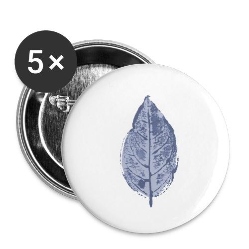 Blatt Buche Wasserfarbe - Buttons klein 25 mm (5er Pack)