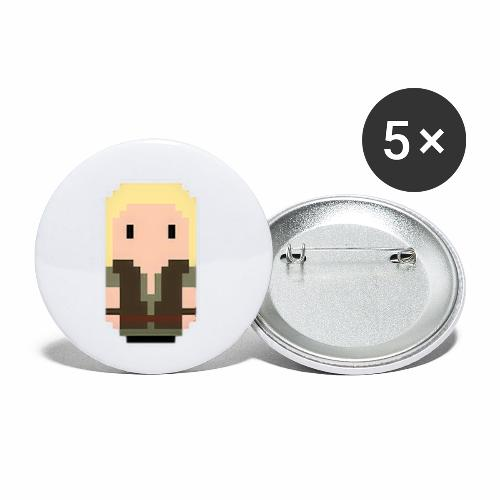 Robin Hood blonde hair - Buttons small 1''/25 mm (5-pack)