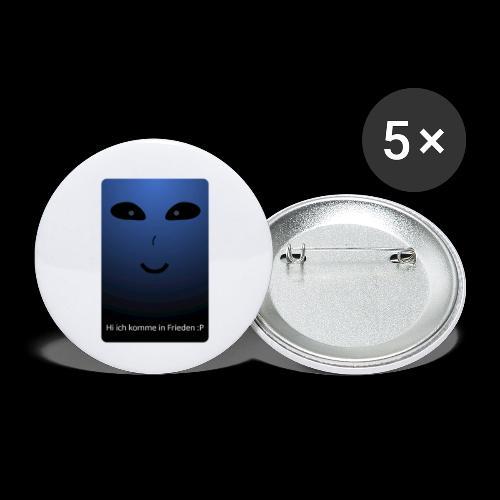 Frieden - Buttons klein 25 mm (5er Pack)