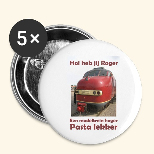 hoi heb jij roger - Buttons klein 25 mm (5-pack)