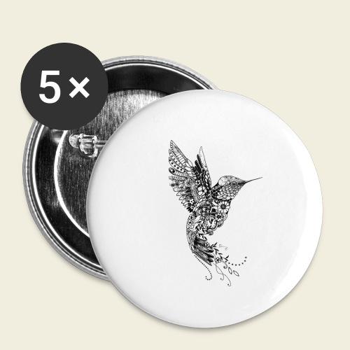 Großer Design-Kolibri - Buttons klein 25 mm