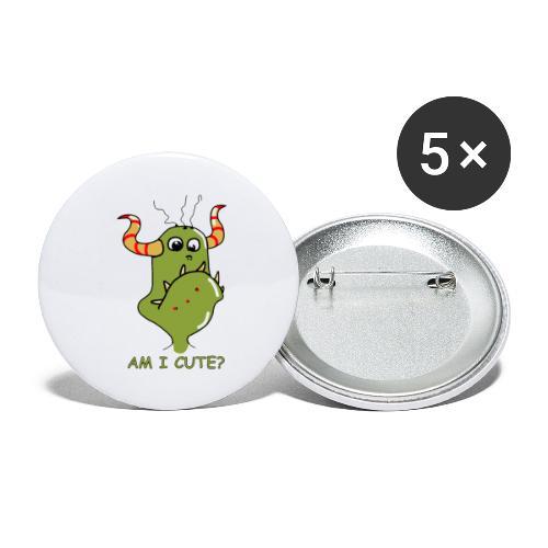 Cute monster - Buttons small 1''/25 mm (5-pack)