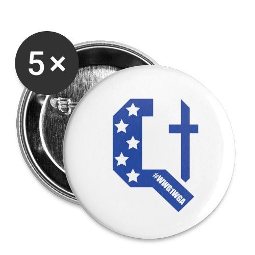 Q Anon Suomi - Rintamerkit pienet 25 mm (5kpl pakkauksessa)