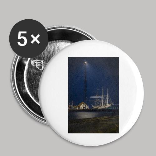Strahlsund - Buttons klein 25 mm (5er Pack)