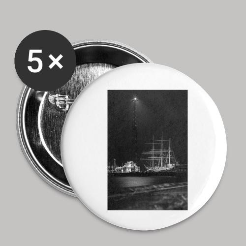 Strahlsund S/W - Buttons klein 25 mm (5er Pack)