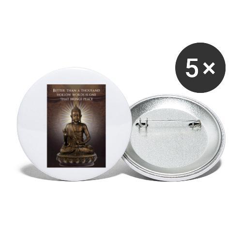Buddha Wisdom - Buttons small 1''/25 mm (5-pack)