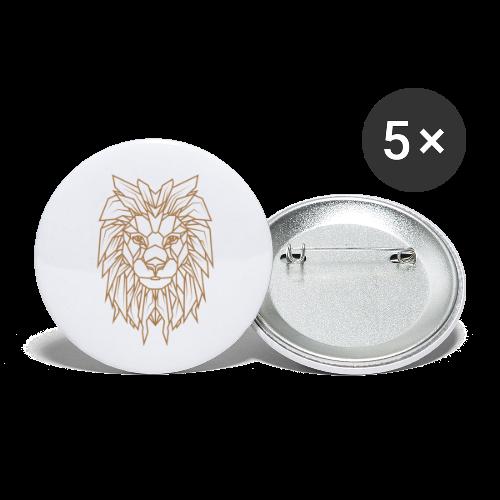 Löwe   Tier Katze Raubkatze Wildtier - Buttons klein 25 mm (5er Pack)