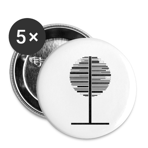 Tree - Buttons/Badges lille, 25 mm (5-pack)
