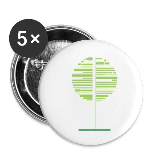 Grønt træ - Buttons/Badges lille, 25 mm (5-pack)