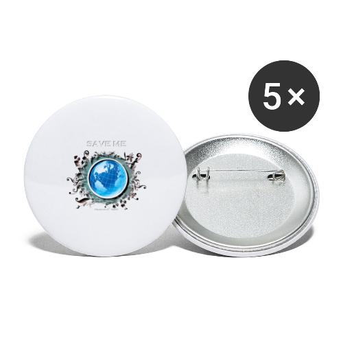 save me - Lot de 5 petits badges (25 mm)