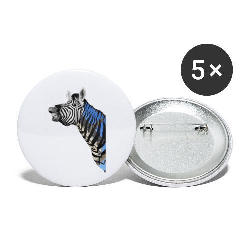 zebre un jour - Lot de 5 petits badges (25 mm)