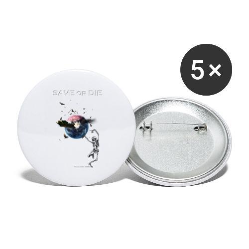 Save or die skeleton - Lot de 5 petits badges (25 mm)