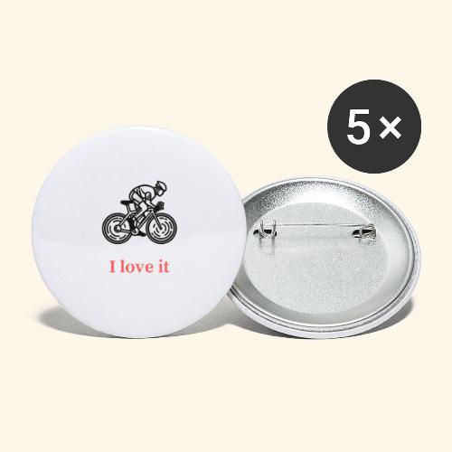 I love my bicycle - Przypinka mała 25 mm (pakiet 5 szt.)