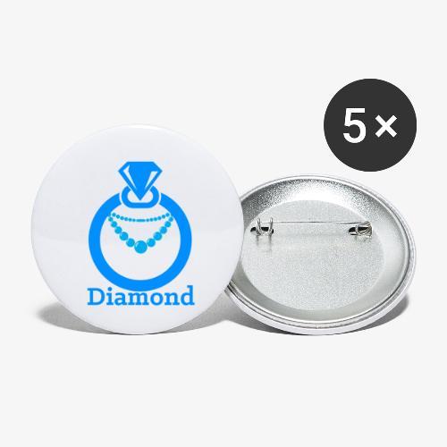 Diamond - Buttons klein 25 mm (5er Pack)